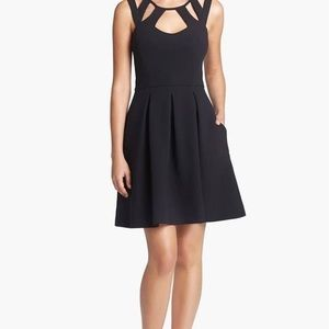 Betsey Johnson cut out black dress